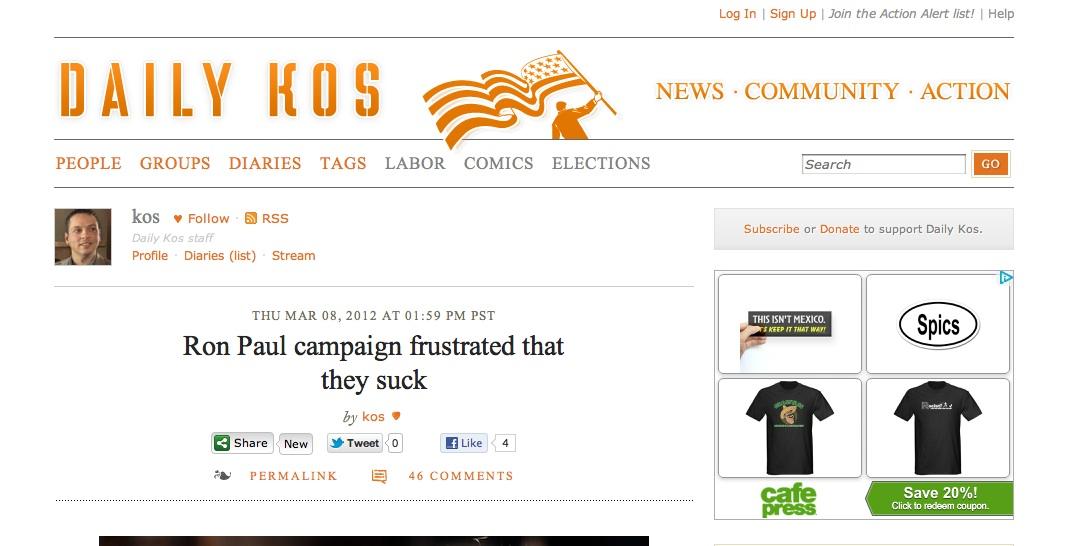 Latino Rebels | #NoMames ALERT: Now @dailykos Displays ... Daily Kos