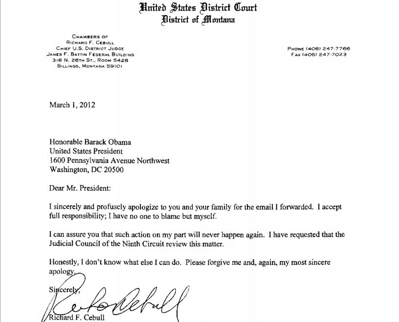 Apology Letter To A Judge – Letter One