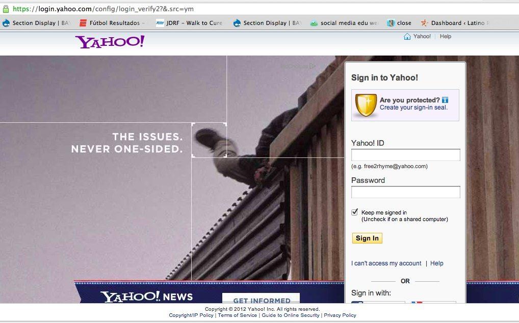 yahoo mail login screen - photo #28