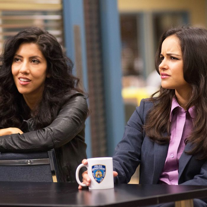Brooklyn Nine-Nine characters Rosa Diaz (l) and Amy Santiago (r)