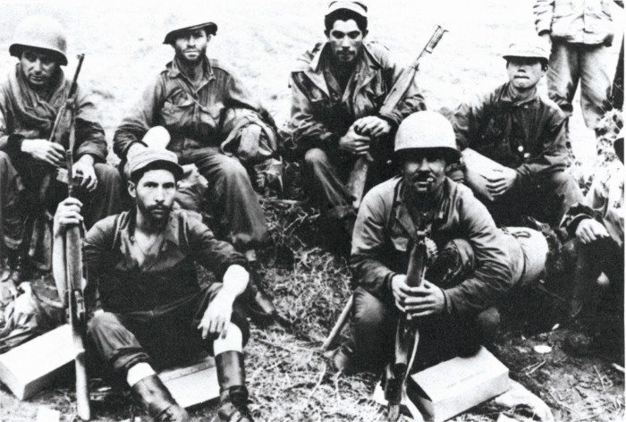 Soldiers of the 65th, North of the Han River, Korea, June 1951. (US Army)