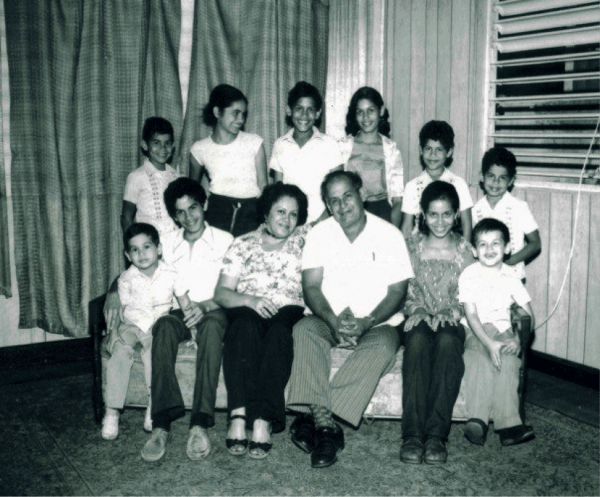 1978. First family portrait, a result of a Section 8 bureaucratic requirement.