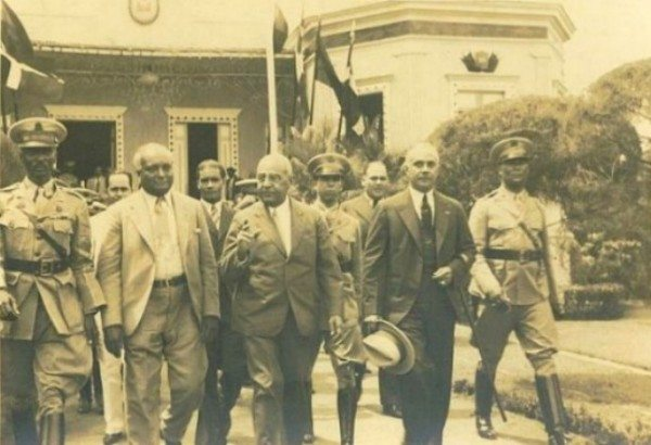 One of two 1933 border meetings between Haitian Sténio Vincent (center) and Rafael Trujillo (right, holding hat). This was four years before the Parsley Massacre.