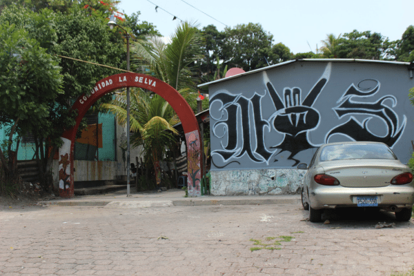 """""""La Selva"""" (the Jungle) neighborhood of Apulo, one the gang-controlled areas the author visited."""