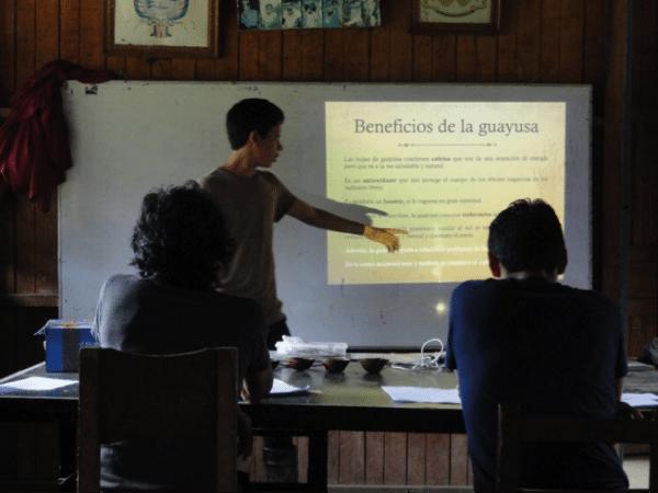 Examen en Sarayaku