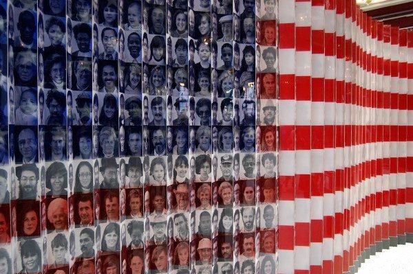 Diversity flag at Ellis Island (Credit: Ludovic Bertron/Flickr)