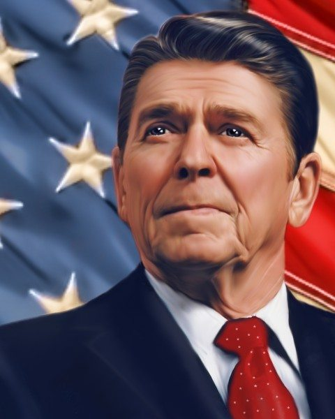 Ronald Reagan, 40th president of the United States (Edalisse Hirst/Flickr)