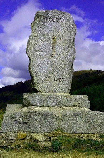 Monument to Roland at Ibañeta Pass