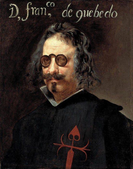 Portrait of Francisco de Quevedo by Juan van der Hamen
