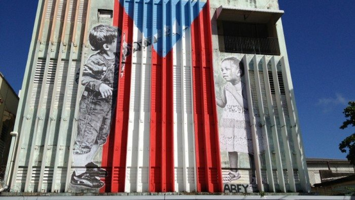 Puerto Rico flag graffiti