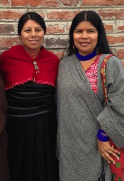 Mirian Masaquiza y Patricia Gualinga