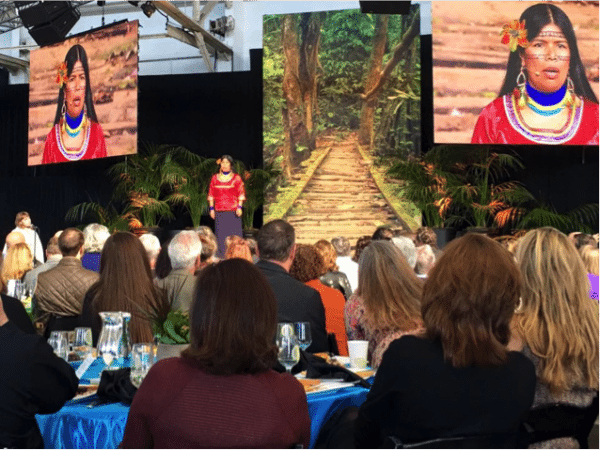 Pagricia Gualinga speaking