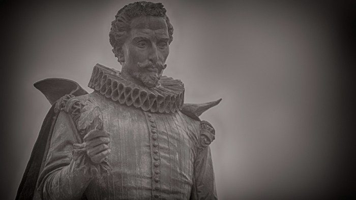 """A statue of Miguel de Cervantes, the author and playwright considered the father of modern Spanish. Spanish is often called """"the language of Cervantes."""" (M. Peinado/Flickr)"""