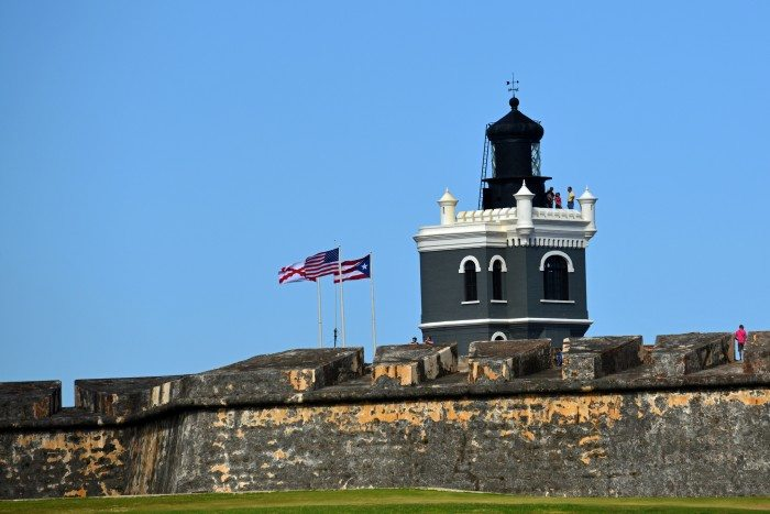 Castillo San Felipe del Morro, the 16th-century citadel overlooking San Juan Bay in Puerto Rico (Harvey Barrison/Flickr)