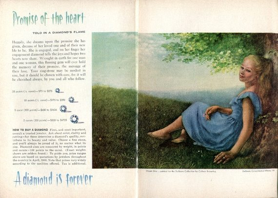 A 1960 De Beers ad in Reader's Digest (SensaiAlan/Flickr)