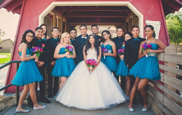 Hailey Alexis and her Quince Court. (CREDIT: Old Soul Photography)